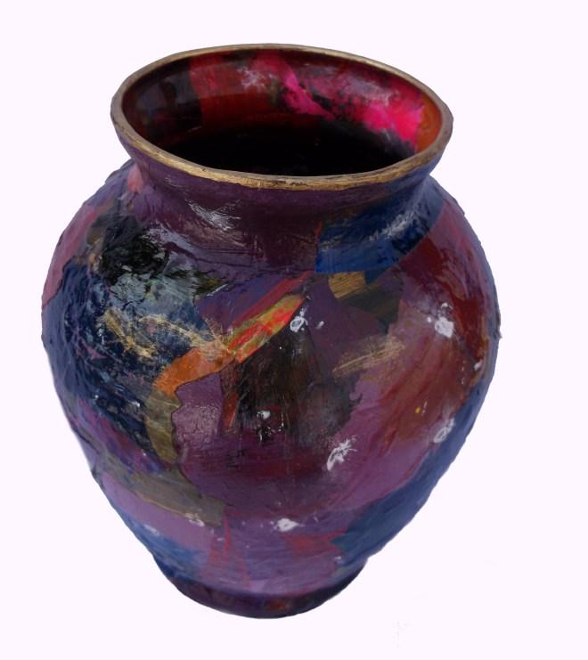 Purple Acrylic Skins Vase