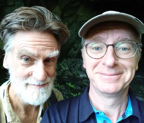 Peter Macqueen & Stefan Escreet in Millican Dalton's Cave, Borrowdale