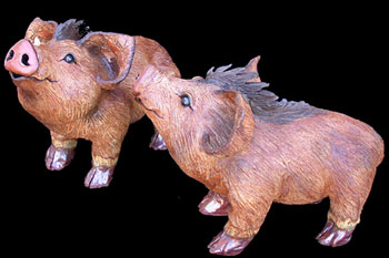 """Javelinas small - approx. 12""""H x 8.5""""W x 16""""L"""