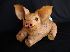 """Lying Pig baby - approx. 9""""-10""""H x 11""""-12""""W x 15""""-16""""D"""