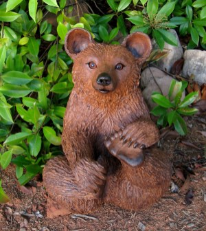 "Brown Bear with feet up Large - approx. 20""-21""T"