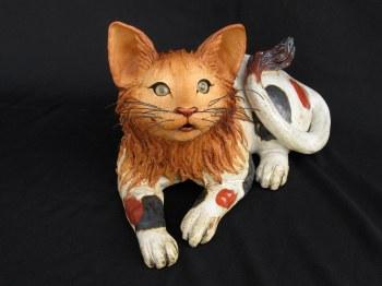 """Lying Cat - approx. 7""""-8""""H x 9""""-11""""W x 7""""-13""""L"""