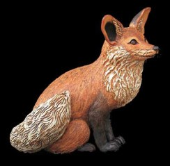 "Large Fox - approx. 16""-20""H x 11""W x 14""D"