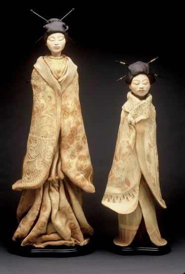 """Geishas large approx. 39""""H x 14""""W x 14""""D smaller approx. 31""""H x 9""""W x 8""""D"""
