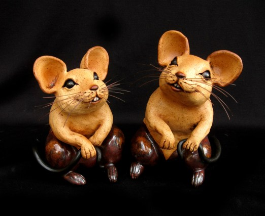 "Table-size Mice - approx. 6.5""-9.5""H"