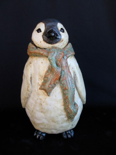 "Baby Penguin Table-sized - approx. 10""H x 6""W x 6""D"