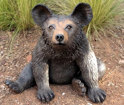 "Black Bear - approx. 18""H x 21""W x 17""D"