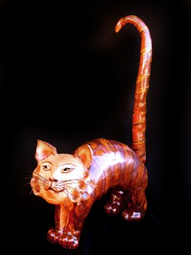 "Arched Cat - approx. 23""H x 7""W x 15""L"