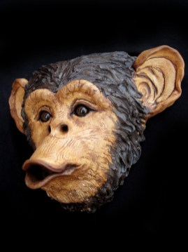 "Chimp Wall Hanging - approx. 9""H x 11""W x 5""D"