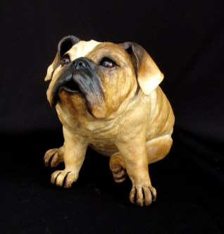 "English Bulldog - approx. 14""H x 14""W x 20""D"