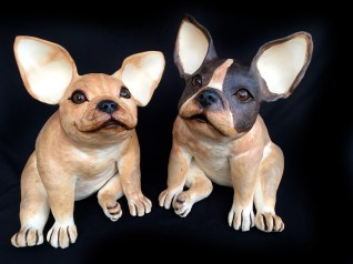 "French Bulldogs approx. 14""H 10""W 13""D"