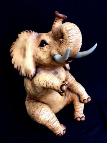 "Sitting Elephant - approx. 17""H x 10""W x 12""D"