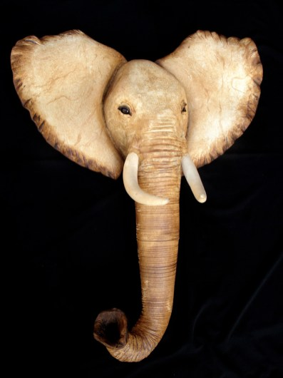 """Elephant Wall Hanging - approx. 31""""H x 24""""W x 11""""D"""