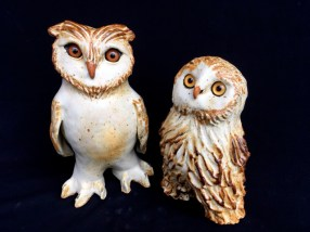 """Owls, table-size - 9.5-8""""H x 5-6""""W x 4""""D"""