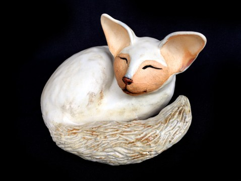 """Sleeping Cat - approx. 6""""H x 8""""W x 7.5""""L"""