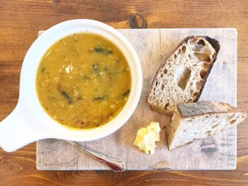 Malvern Buttery - Soup with bread and butter