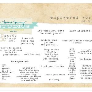Empowered words