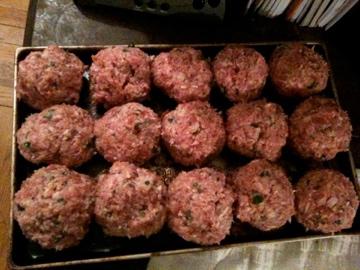 Meatball prep