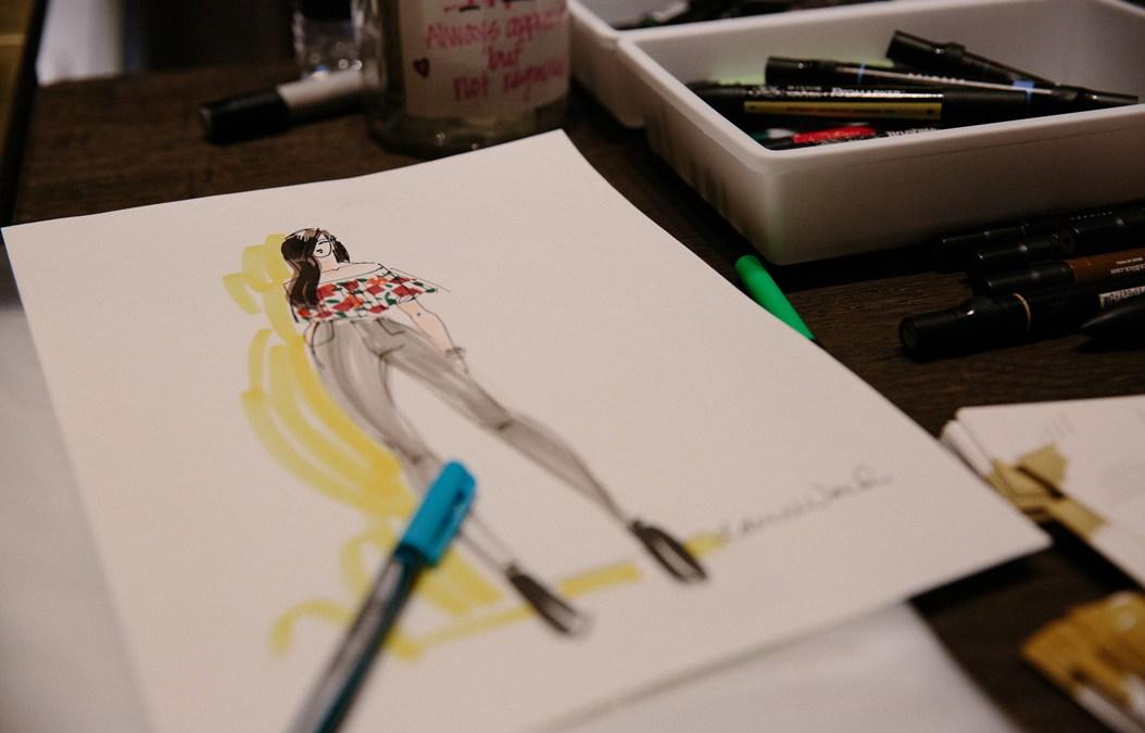 Inside the Artist's Studio: Fashion Illustrator Claire Ward
