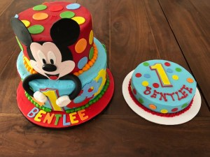 Admirable Mickey Mouse First Birthday Cake Artfully Delicious Personalised Birthday Cards Veneteletsinfo