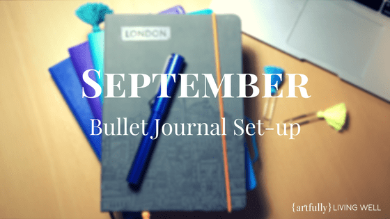 September 2017 BuJo set up blog header