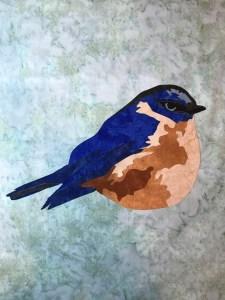hope, bluebird, laser cut fusible applique, art applique, Artfully Quilted Design