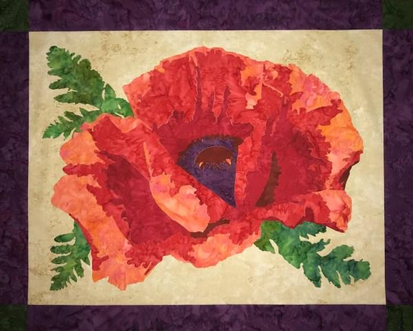 """""""Spring Poppy"""" Quilt Kit"""