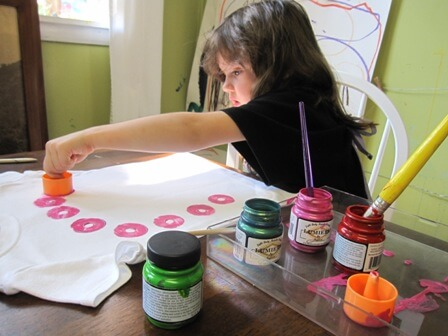 Fabric Printing With Kids Part I
