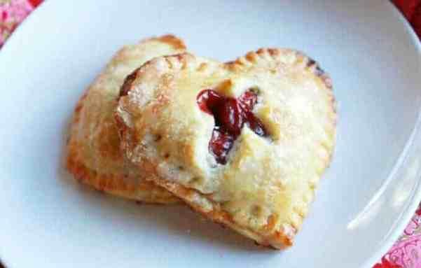 Heart Shaped Cherry Hand Pie