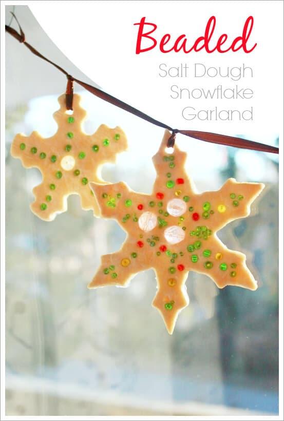 Sparkly Beaded Salt Dough Ornaments Suncatchers And