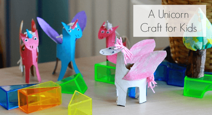 A Happy Handmade Unicorn Craft for Kids Made from Toilet Paper Rolls