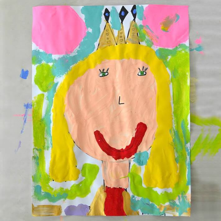 Queen Mom Mother S Day Portraits Painted By Kids A Mother S Day Gift