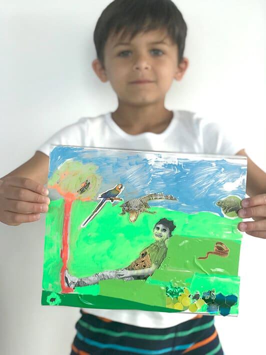 Dream Worlds– mixed media art for kids