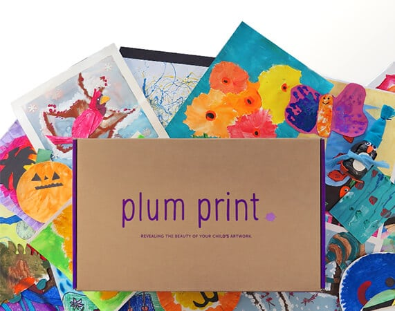 Plum Print Bound Book of Artwork