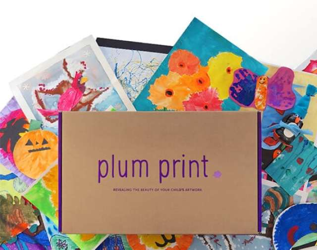 Plum Print Bound Book of Artwork