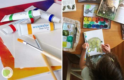 Painting supplies from Imagine Childhood