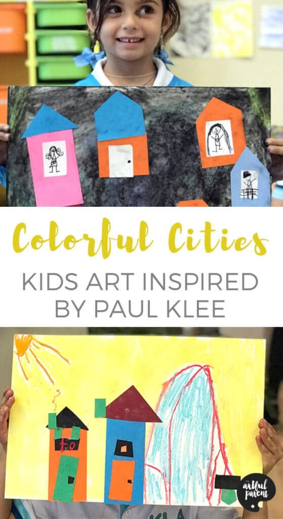 Paul Klee Art for Kids - Collaging Colorful Cities