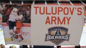 Kirill Tulupov's Banner unveiled at OKC Barons game, Dec. 27, 2011.