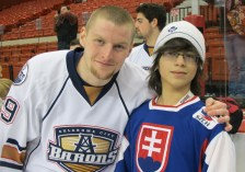 Milan Kytnar and Noah Geopfert - OKC Barons Fan (Photo: Patricia Teter. All Rights Reserved.)