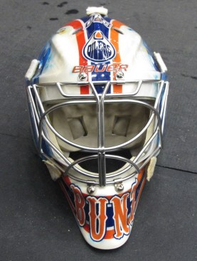 Tyler Bunz 2012-13 Mask: Front. (Photo: Patricia Teter. All Rights Reserved.)
