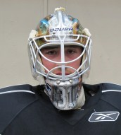 Olivier Roy wearing 2012-13 Mask. (Photo: Patricia Teter. All Rights Reserved.)