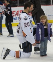 Bryan Helmer at OKC Barons Fan Skate (Photo: Patricia Teter. All Rights Reserved.)