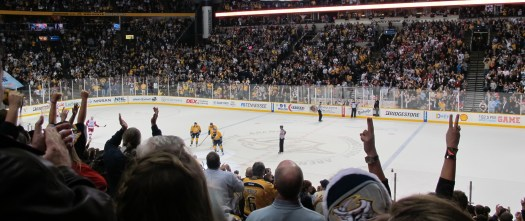Crowd in Bridgestone Arena - NASH-DET Dec. 15, 2011. Photo: Patricia Teter. All Rights Reserved.