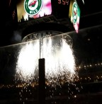 Opening night pyrotechnics for Iowa Wild. (Photo: Patricia Teter. All Rights Reserved.)