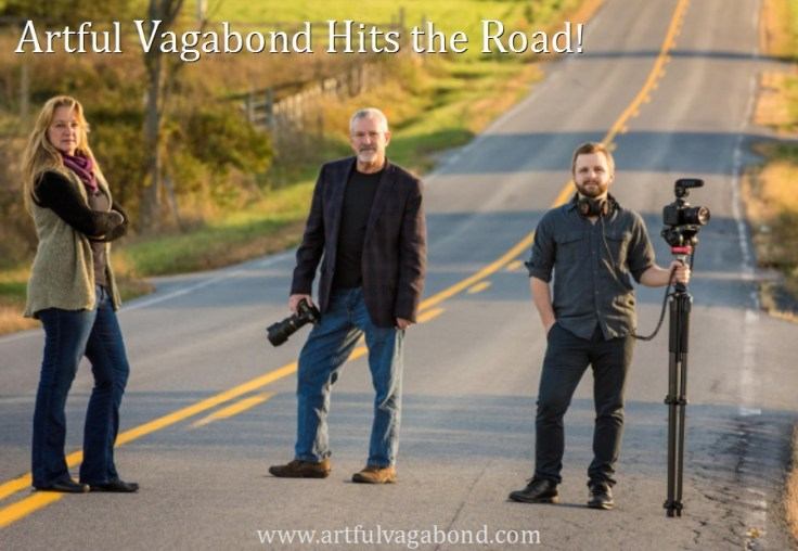 Artful Vagabond Hits the Road Poster