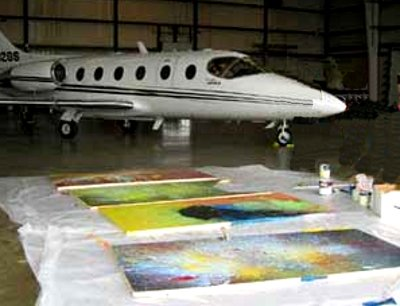 Painting with a Lear Jet. Art Works, Virginia