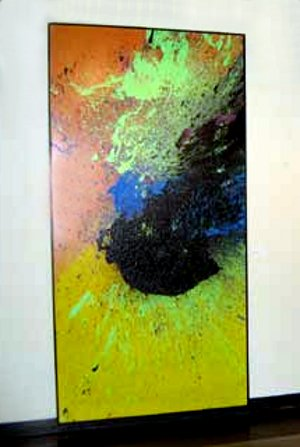 MAX ITT - collaborative painting with Michael Keeling, Diane Clement and others
