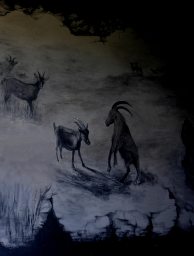 Rupert Cave Painting (detail) at Consider Bardwell