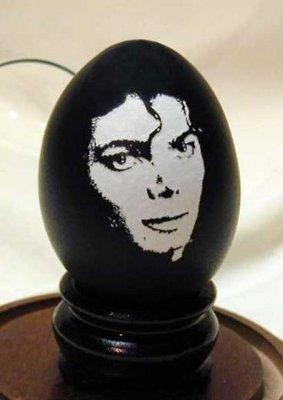 """Michael Jackson"" by Gary LeMaster © Gary LeMaster and The Eggshell Sculptor, LLC"