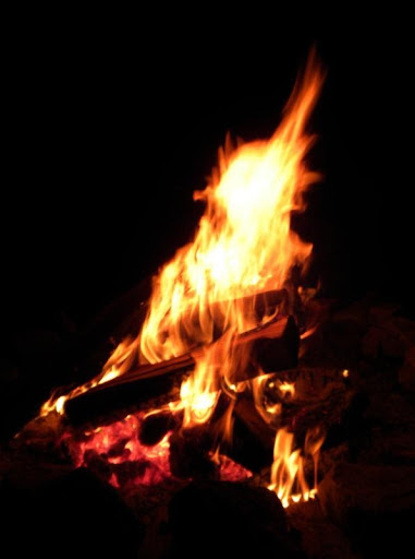 Sacred Fire at night